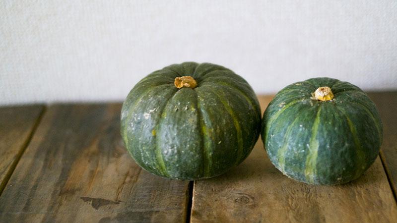 旬の野菜をいただく。かぼちゃが好きなのよ。